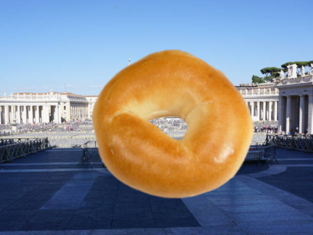 While They Choose a New Pope, I Eat a Bagel